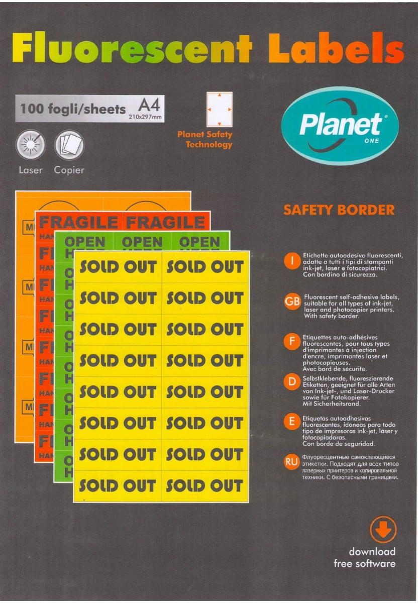 Флуоресцентная бумага Planet А4