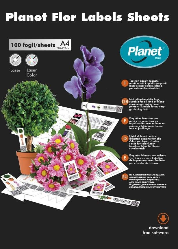 Садовые этикетки PlanetFlor на листах А4 тип: с ярлыкодержателем